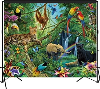musykrafties Tropical Rain Forest Adventure Scenic Backdrop Large Banner Photography Studio Fabric Background Photobooth Prop 7x6feet #2191