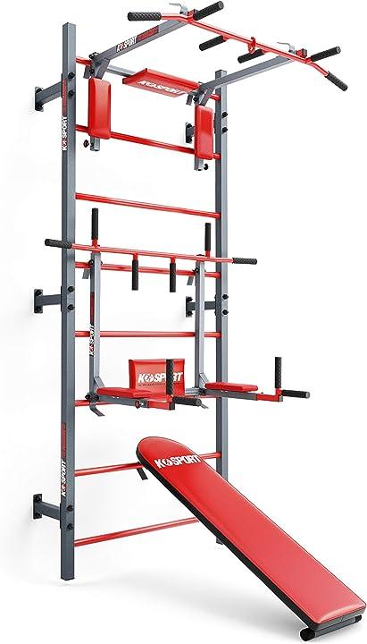 Dip station - stazione fitness pesi palestra gym per allenamento completo k-sport power tower B08DRRM66Q