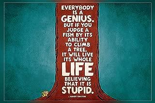 Best everybody is a genius albert einstein poster Reviews