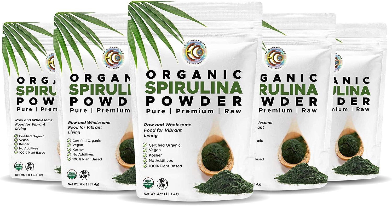 Earth Circle Organics Organic Spirulina Award-winning store Kosher Raw an Spring new work one after another Powder