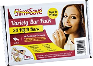 30 Slim Save Meal Replacement Bars – 10 Flavours Three of Each bar Estimated Price : £ 34,99