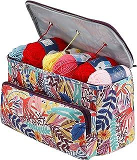 WANXJM Sac de rangement carré pour fil à tricoter, crochet, mode féminin, sac à tricoter, pour loisirs créatifs, aiguilles...