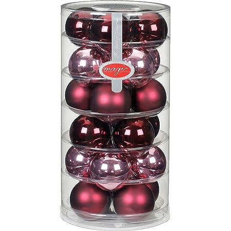 mineralgr/ün Glanz-matt//Jade matt Inge`s Christmas Decor Inge-Glas 15247D003MO Winter Mix 28 St/ück//Dose 6cm Glaskugel 60mm