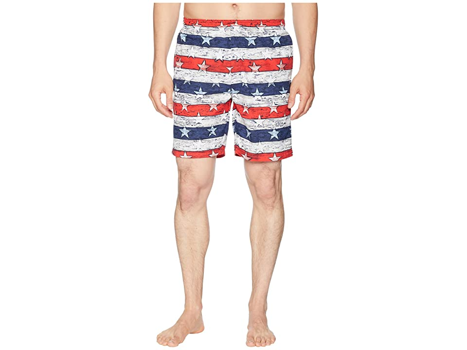 Columbia Big Dippers Water Shorts (Collegiate Navy Stars & Stripes Print) Men