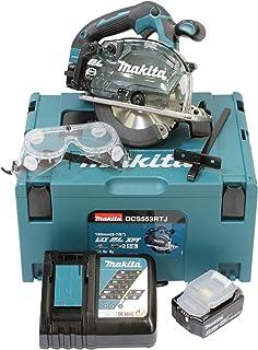 Makita DCS553RTJ Battery-Powered Metal Circular Saw 18.0 V, Blue