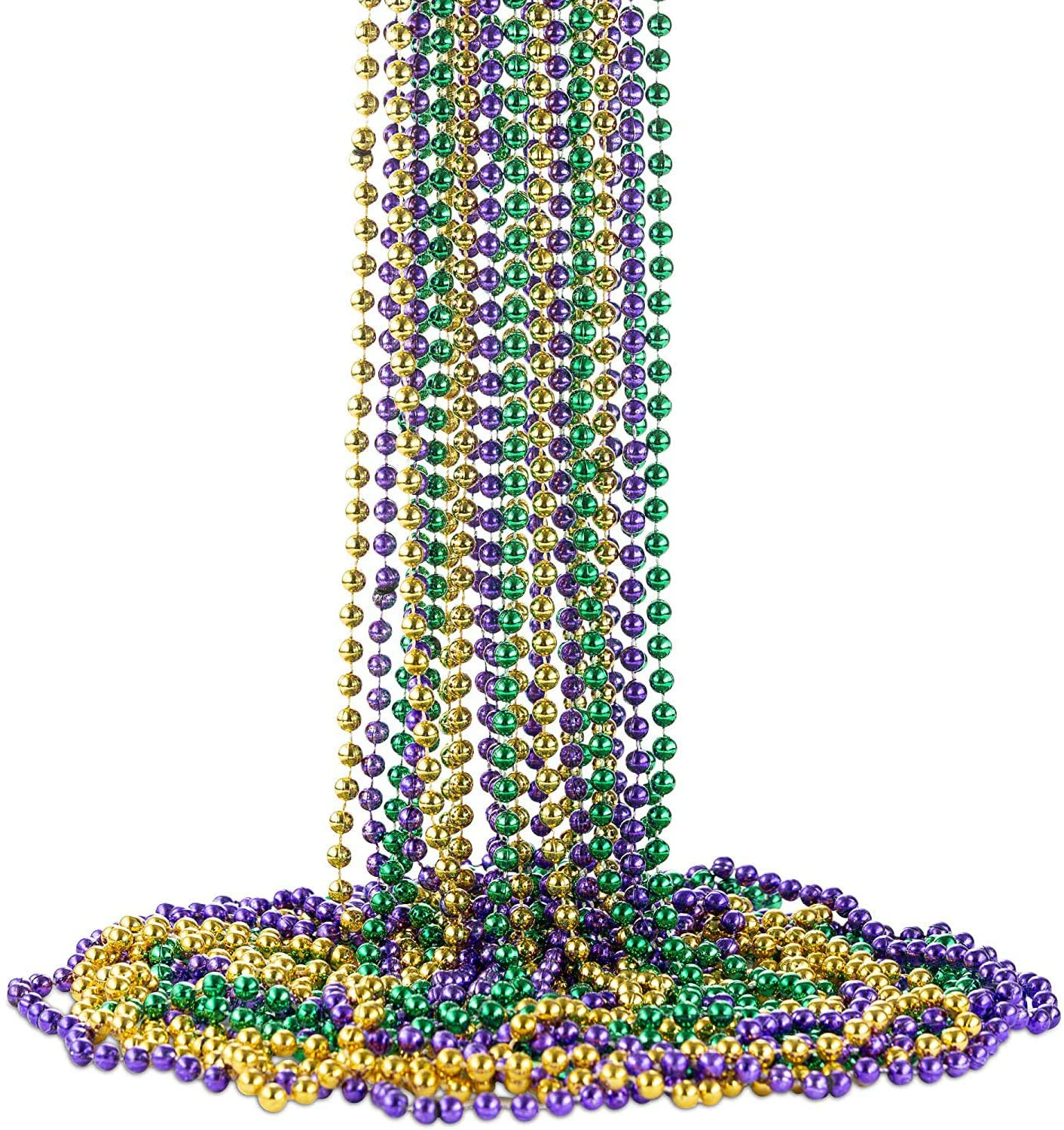 Fashionable Mardi Gras Bead Award-winning store Necklaces 32 Inch Round mm Assorted 7 colorful C