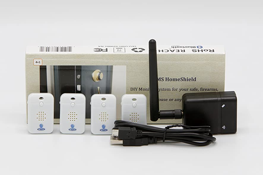 Shield iGoTrackr Security Monitoring System, easily attach, stick or tie to keys, luggage, backpacks and more so that you can find just about anything.