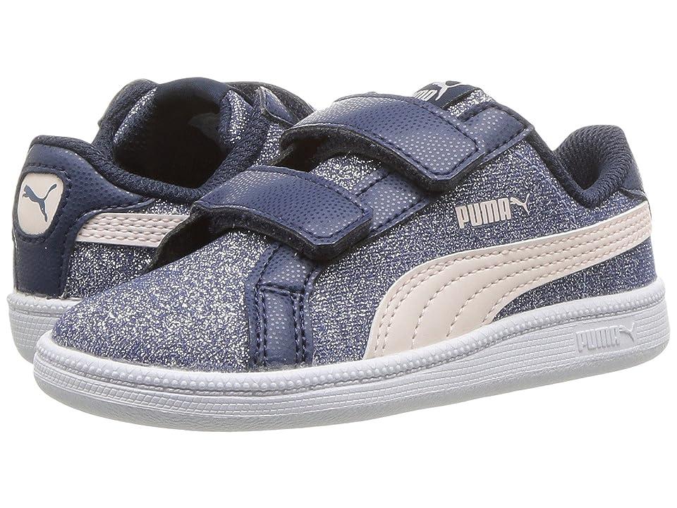 Puma Kids Smash Glitz Glamm V (Toddler) (Sargasso/Sea/Pearl) Girls Shoes