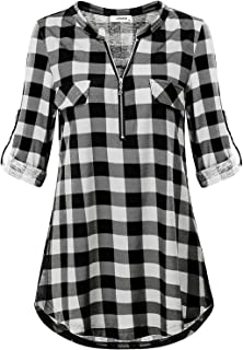 Best black and white checkered shirt ladies Reviews