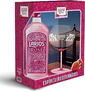 comprar comparacion Larios Rosé Ginebra Premium 37,5 % + Pack Regalo Copa - 700 ml