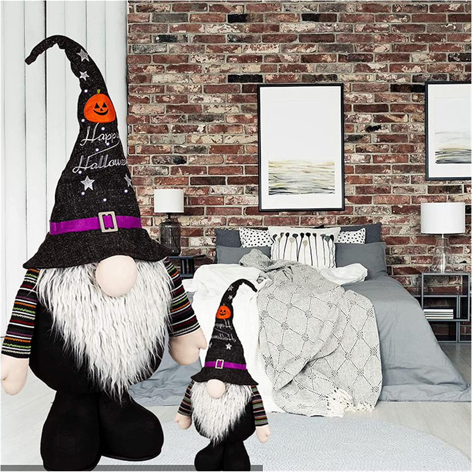 Large Halloween Plush Gnome Decoration Glow Ranking TOP4 Led All items free shipping