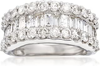 Ross-Simons 3.00 ct. t.w. Baguette and Round Diamond Ring in 14kt White Gold