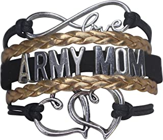Army Mom Jewelry, Proud Army Mom Charm Bracelet for Women, Proud Mom of an Army Soldier, Military Mom Gifts