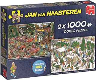 Jan Van Haasteren Christmas Gifts 2-in-1 Jigsaw Puzzles ( 2 x 1000 Pieces)