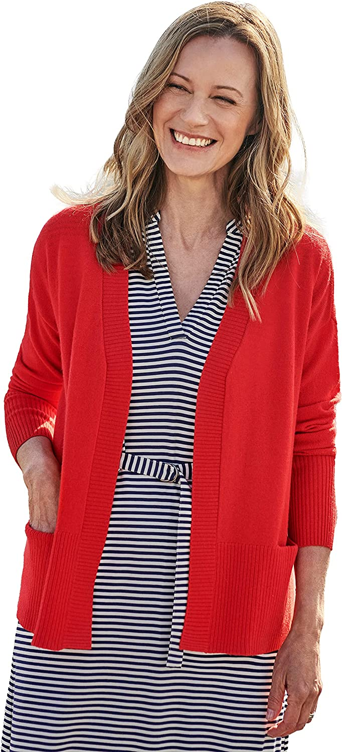 WoolOvers Womens Open 5 Baltimore Mall ☆ very popular Cashmere Cardigan Merino Ribbed