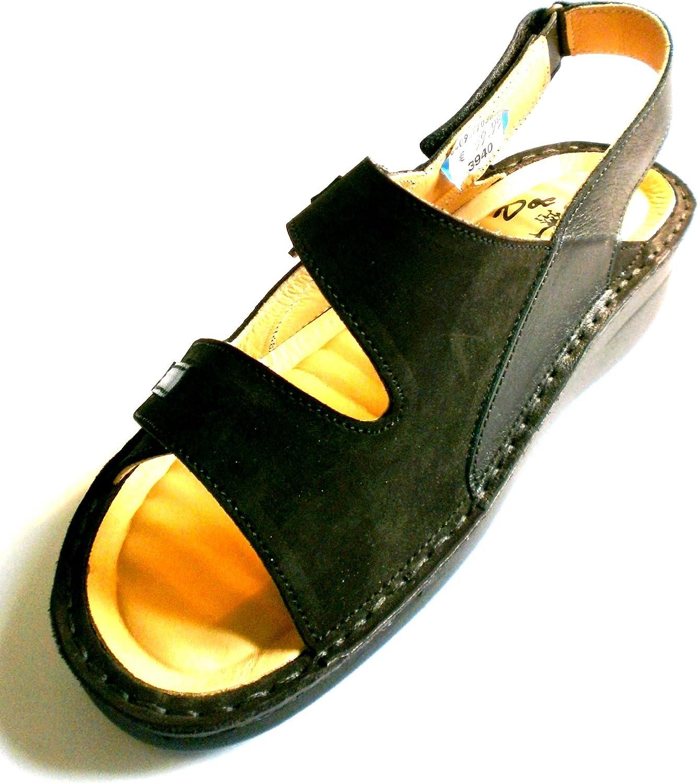 Gemini Damen Sandale Sandale Sandalette 440001, schwarz, LEDER, 36-40  billig und hochwertig