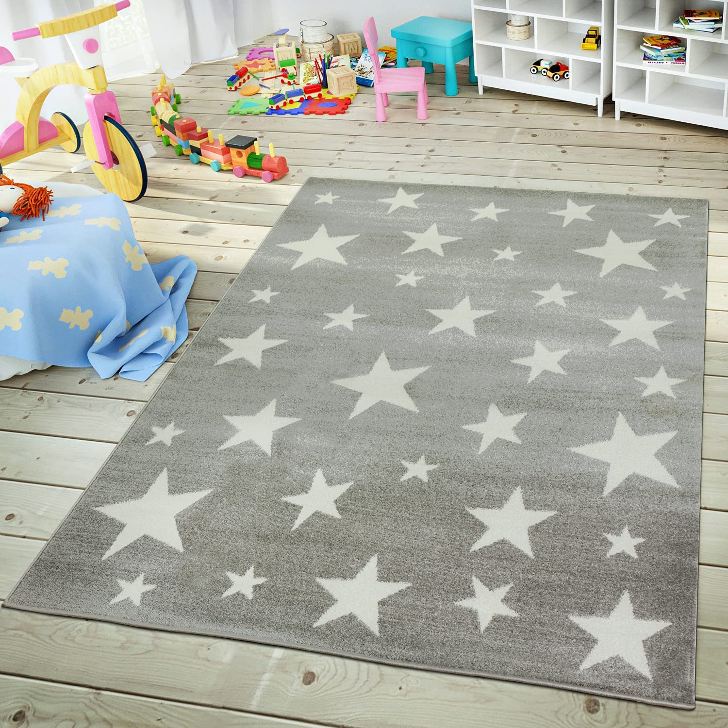 Kids Rug with Star for Children's Room Design Max 53% OFF Starry Inexpensive Size:6 Sky