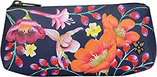 Women's Genuine Leather Cosmetic Case | Hand Painted Original Artwork