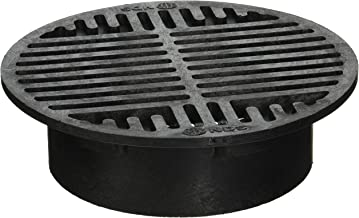 NDS 10 Plastic Round Grate, 8-Inch, Black