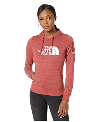 The North Face Americana Tri-Blend Pullover Hoodie (Cardinal Red Heather) Women