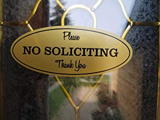No Soliciting Sign for House Private Property Business Sticker Decal Self Adhesive Modern Design for Doors Windows or Any Other Flat Surface Outdoor Indoor Use