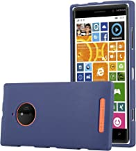 Cadorabo Case Works with Nokia Lumia 830 in Frost Dark Blue – Shockproof and Scratch Resistant TPU Silicone Cover – Ultra Slim Protective Gel Shell Bumper Back Skin