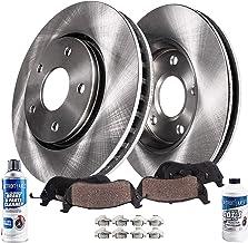 Premium Slotted Drilled Rotors + Ceramic Pads KT147433 Max Brakes Front /& Rear Performance Brake Kit Fits: 2011 11 Kia Soul 2.0L w//Rear Disc Brake