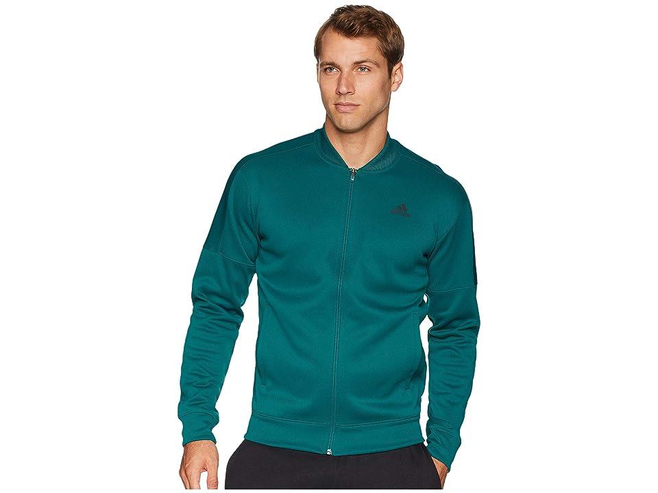 adidas Team Issue Fleece Bomber (Noble Green) Men