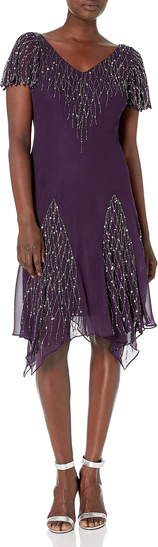 J Kara Women's Short Beaded Dress