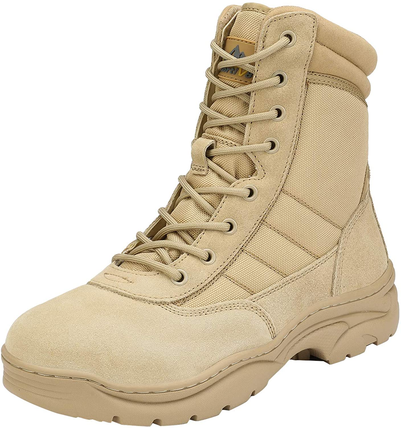 NORTIV 8 Men's Military Tactical Side Zipper Work Cheap sale Leather Fixed price for sale Boots