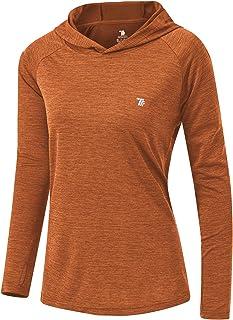 TBMPOY Women's UPF 50+ UV Sun Protection Hoodie Long Sleeve Shirt Lightweight Outdoor Running Quick Dry Shirts