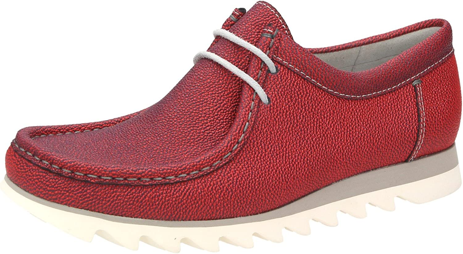 Sioux Men's Lace-Up Flats red red