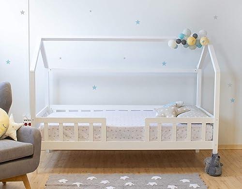 Suarez Cama casita con barandilla Montessori blancoa