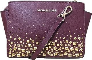 MICHAEL Michael Kors Selma Stud Medium Messenger Leather Crossbody Bag - Merlot