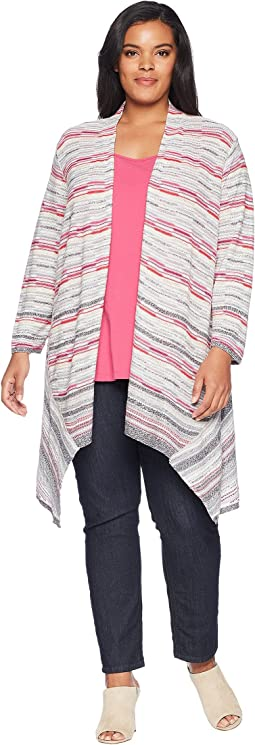 Plus Size Color Mix Cardy