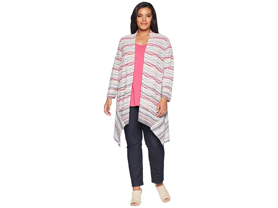 NIC+ZOE Plus Size Color Mix Cardy (Multi) Women