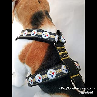 Pittsburgh Steelers NFL Strap Dog Harness with Leash and Seat Belt Option