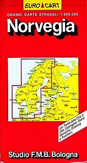 Norvegia Cartina Stradale.Amazon It Cartina Geografica Norvegia