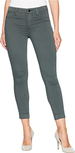 Anja Mid-Rise Cuffed Crop Jeans in Granite