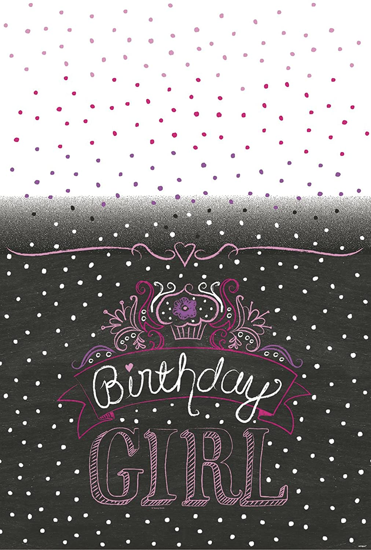 Birthday Sweets Plastic Tablecloth, 84