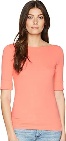 LAUREN Ralph Lauren Cotton Boat Neck T-Shirt