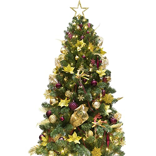 Decorating A Christmas Tree With Ribbon.Red And Gold Ribbon Christmas Tree Amazon Com