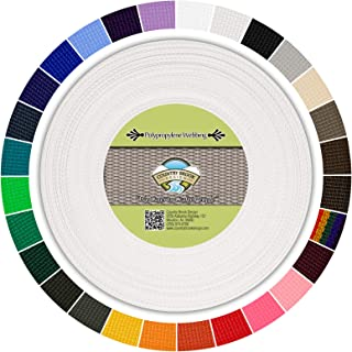 Country Brook Design - Polypropylene Webbing (1 Inch) (White, 25 Yards)
