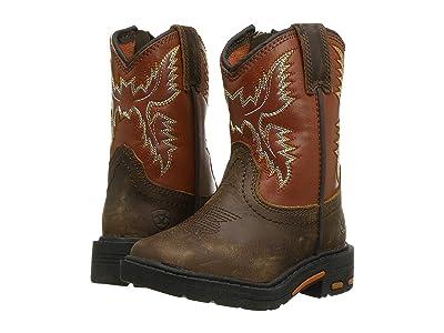 M&F Western Kids Workhog (Toddler) (Brown) Boys Shoes