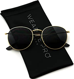 WearMe Pro - Reflective Lens Round Trendy Sunglasses