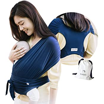 Beige, 2XS Sensible Sleep Solution Ultra-Lightweight Konny Baby Carrier Infants to 44 lbs Toddlers Newborns Soft and Breathable Fabric Hassle-Free Baby Wrap Sling