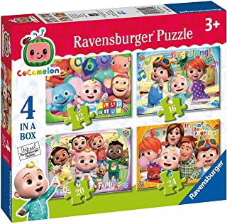 Ravensburger Cocomelon - 4 in Box (12, 16, 20, 24 Pieces) Jigsaw Puzzles for Kids Age 3 Years Up