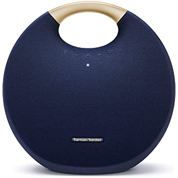 Harman Kardon Onyx Studio 6 Altavoz inalámbrico Bluetooth – IPX7 impermeable sistema de sonido extra bajo con batería recargable y micrófono integrado – Azul