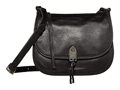 The Sak Playa Leather Saddle Bag (Black) Handbags