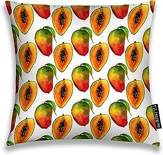 YILINGER Decorative Throw Pillow Cover Tropical Exotic Fruits Mango Slice Summer Print Decor Pillow Case 18